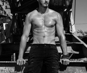 alexander ludwig, abs, and sexy image