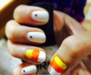 autumn, candy corn, and Halloween image