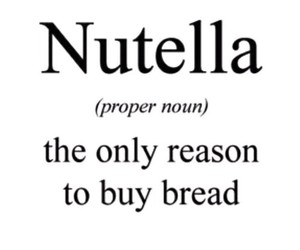 nutella, quote, and bread image