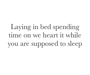bed, quotes, and sleep image