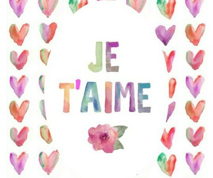 love, je t'aime, and wallpaper image