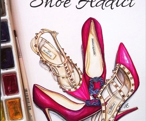 shoes, fashion, and drawing image