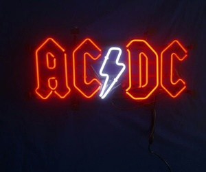 neon, ac dc, and band image