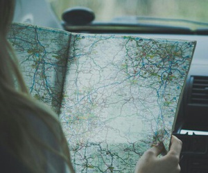 map, travel, and girl image