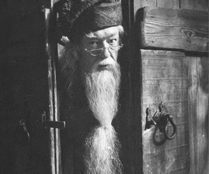 harry potter, dumbledore, and black and white image