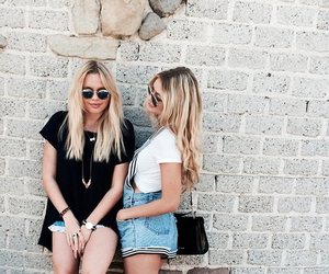 girl, friends, and blonde image