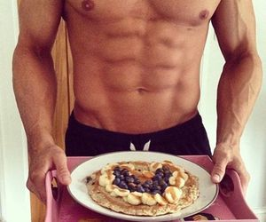 boy, breakfast, and abs image