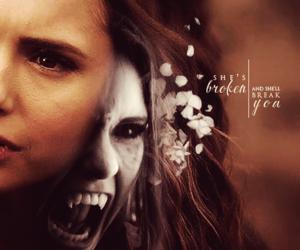 katherine pierce, broken, and Nina Dobrev image