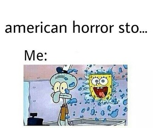 american horror story, funny, and spongebob image