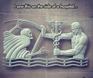 hospital, death, and funny image