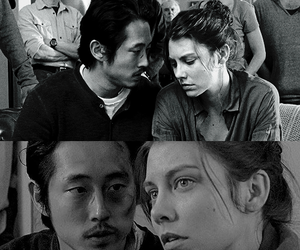couple, the walking dead, and twd image