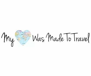travel, heart, and world image