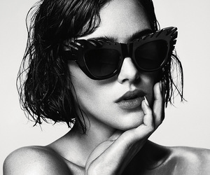 fashion, model, and black and white image