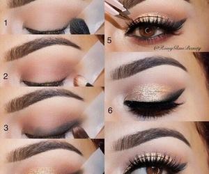 black, cosmetic, and eye image