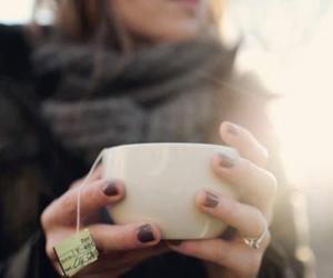 tea, girl, and winter image