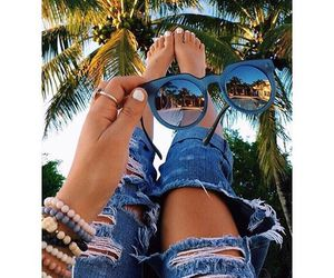 summer, fashion, and sunglasses image
