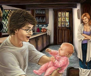 ginny, harry, and harry potter image