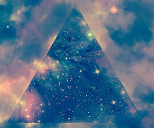 galaxy, triangle, and wallpaper image
