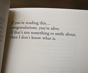 quotes, book, and smile image