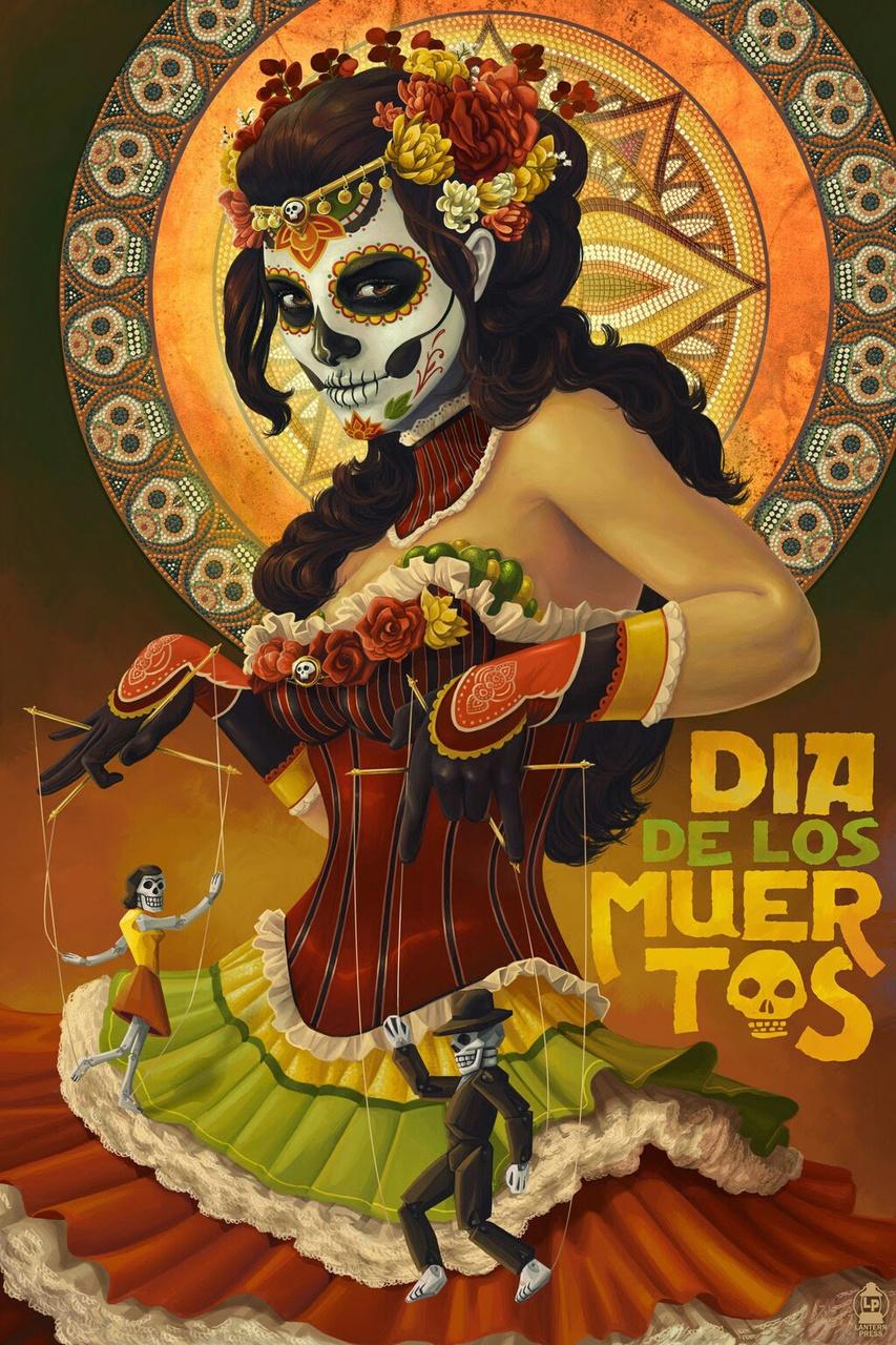dia de los muertos, skull, and dia de muertos image