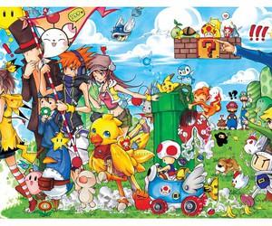 game, mario, and pikachu image