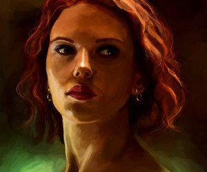 art, Avengers, and black widow image