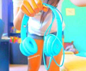 blue, beats, and headphones image
