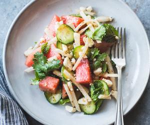food, lime, and salad image