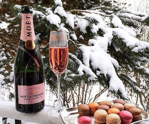 champagne, winter, and snow image