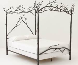 bed, bedroom, and branches image