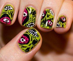 nail art, nails, and zombie image