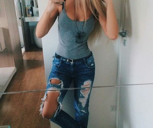 girl, style, and love image