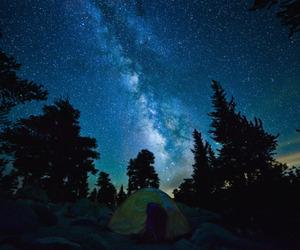beautiful, camping, and sky image