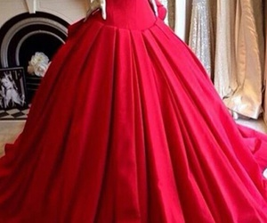 dress, red, and stunning image