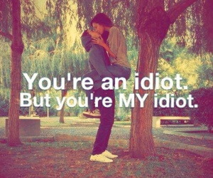 love, idiot, and couple image