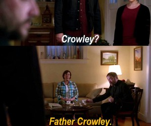 crowley, dean, and supernatural image