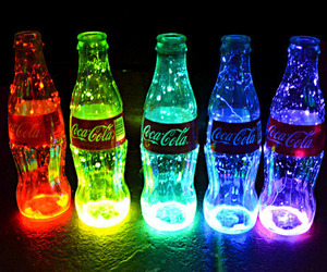 coca cola and rainbow image