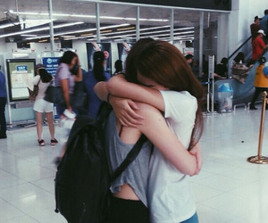 friends, friendship, and hug image