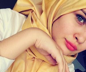 hijab, yellow, and hejab image