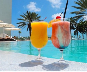drink, beach, and pool image