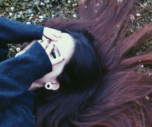 grunge, long hair, and pale image