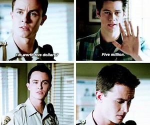 funny, teen wolf, and parrish image