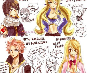 nalu, fairy tail, and zervis image