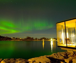 nature, northern light, and norway image