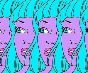 girl, blue, and purple image