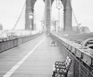 bridge, new york, and light image