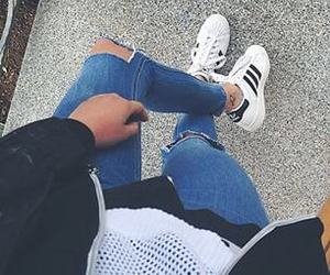 adidas, jeans, and outfit image