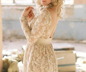 blonde, dress, and girl image