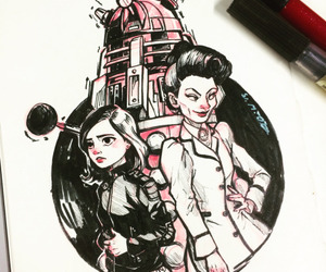 Dalek, doctor who, and draw image