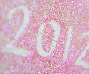 new year, pink, and 2012 image